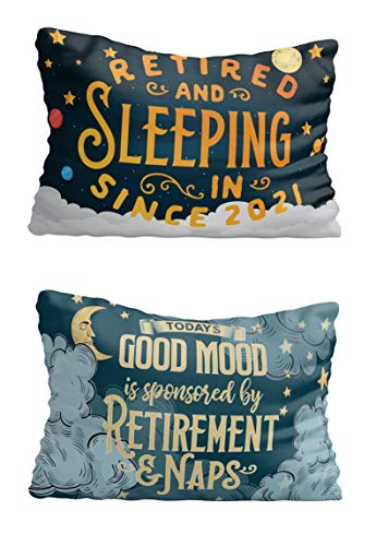 Bad Bananas - Funny Retirement Gifts for Women, Men 2021 - Retired and Sleeping in - Today's Good Mood Sponsored by Retirement - Pillow Cover
