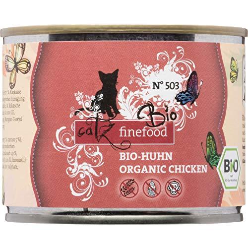 catz finefood Bio Katzenfutter Huhn - N° 503 - Nassfutter für Katzen - 6 x 200 g - Ohne Getreide & zugesetzten Zucker (1,2 kg)