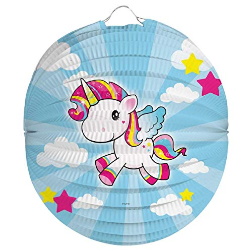 Folat 65054 Einhorn Laterne Lampion Laternenzug Martinstag Halloween-22 cm