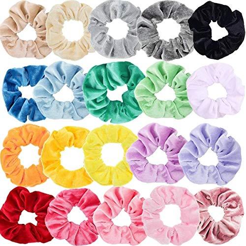 Sinwind 20 Chouchous Bandeaux bandes velours cheveux élastique bandes de cheveux filles pour Scrunchie femmes ou accessoires pour les cheveux des filles