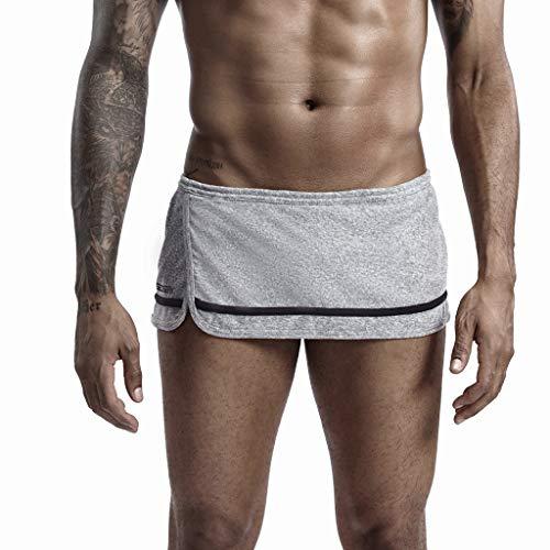 GreatestPAK Herren Neu Heim Sporthose Kurze Hose Taschen Heimhose Heimshorts Sport Laufen Shorts Einfarbig Boxershorts