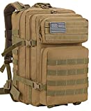 Luckin Packin Tactical Backpack,Military Backpack,Molle Bag 45 Liter Large Khaki