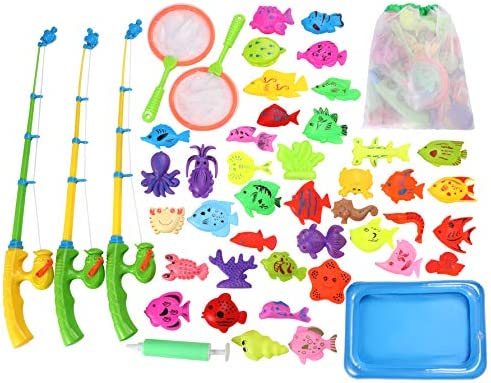 Carevon Bath Toys for Kids Ages 4 8 Fishing Pool Toys for Toddlers Water Table Magnetic Fishing product image