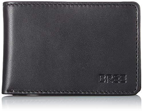 BREE Collection - Pocket New 102, Black, Wallet, Carteras Hombre, Negro (Black), 1.5x7x10 cm (B x H T)