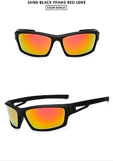 GR New Sports Men's Polarized Sunglasses Outdoor Riding Night Verson Glasses for Night Windshield Sunglasses UV400 Prevent Glare (Color : Orange)