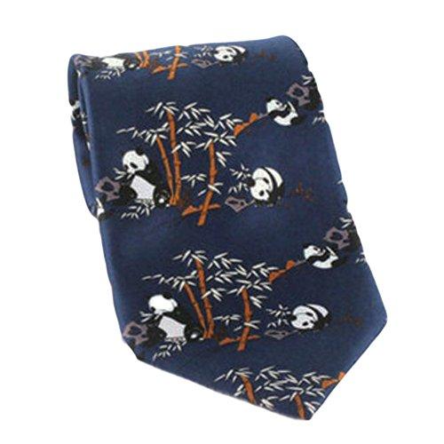 Black Temptation Motif Mode Hommes Cravates/Panda noeuds papillon/cravate/écharpe/Neckwear-Bleu-2