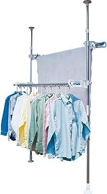 アイリスオーヤマ 洗濯物干し ベランダ 物干し 突っ張り ステンレス 高さ210~275cm SVI-275NR