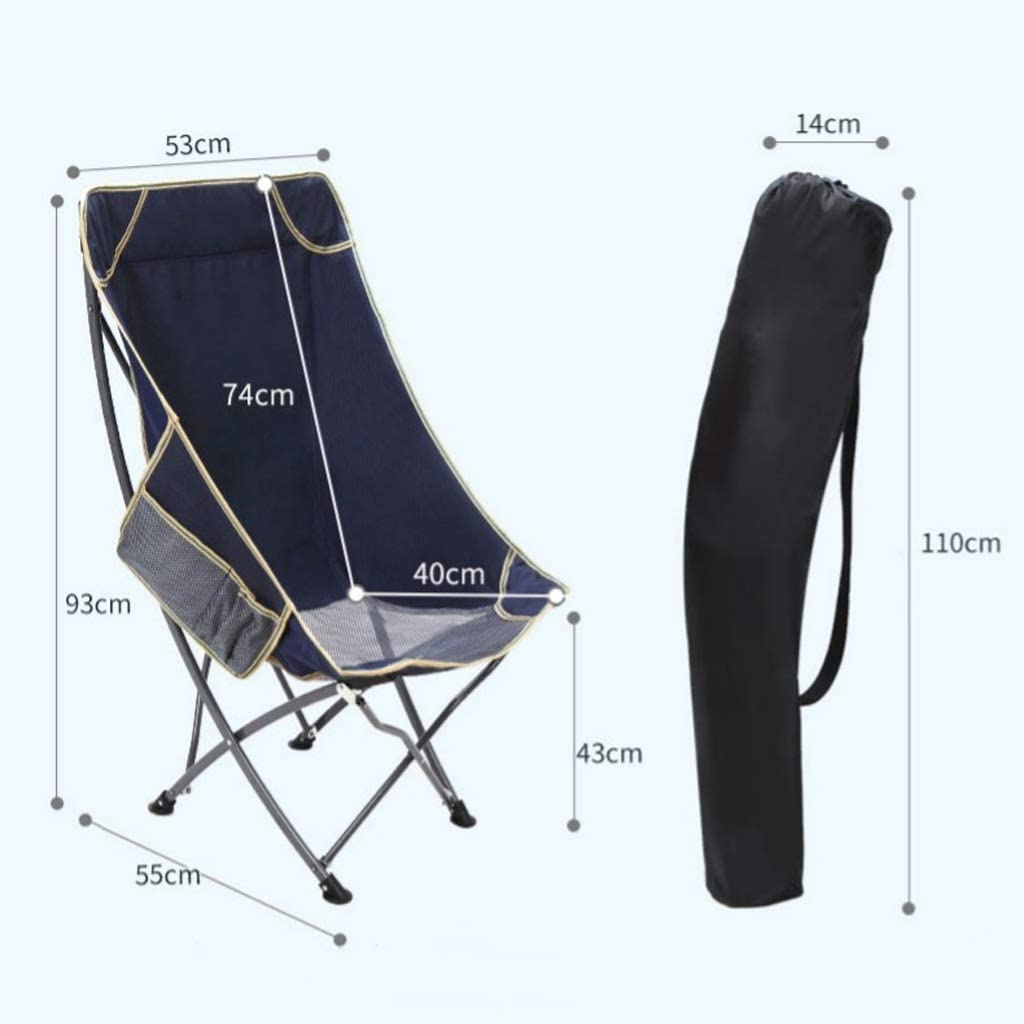 Chaise Longues Chaises De Camping Pliant Heavy Duty Chaise Longue En Plein Air Portable La Pêche Plage Inclinable, 3 Couleurs (Color : Camouflage) Blue