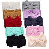 Big Hair Bow Baby Headbands Knot Headwrap bow wide headband Elastic Head Wraps for Newborn Infant Toddler Hair Accessories