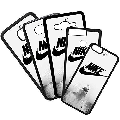 ELHURON Carcasas De Moviles Fundas De TPU Compatible con El Modelo de Movil Samsung Galaxy S7 Edge Nike Tiburón Marcas Logotipo Moda