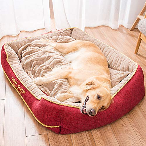 XXL Jumbo Extra Large Wicker Dog Sofa Bed Calming Heated Plush Warm Cushion 2 Older Dogs Mattress Cave XL Cuddler Tough xxxl Cuddler Crate Pad Sleep Basket Anti Chew
