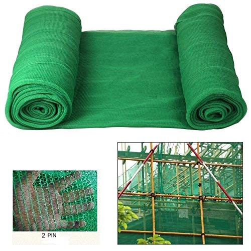Joytea Gerüstschutznetz 8 mx 40 m | Gerüstnetz grün | Gewebeschutznetz für Gerüste | Netz mit Knopflochstäben | Pflanzenschutznetz Vogelnetz | Staubnetz Laubschutznetz