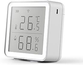 Abcidubxc Sensor de temperatura y humedad WIFI con pantalla LCD de la temperatura del hogar
