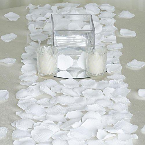 BalsaCircle 4000 White Silk Artificial Rose Petals Wedding Ceremony Flower Scatter Tables Decorations Bulk Supplies Wholesale