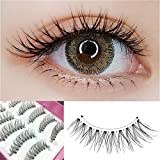Dorisue False Eyelashes Super Eyelashes Naturall Short False Eyelash women Lady 100% Handmade Eyelashes Pack (10 Pairs Set)