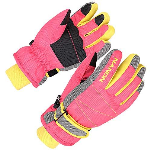 XTACER Kinder Skihandschuhe Snowboard Winter Warme kalte Wetter Handschuhe für Jungen Mädchen Kinder - Pink - Klein