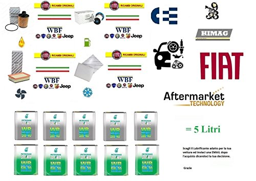 Kit Filtri Tagliando 500X 1.6 Multijet + 5 Litri Olio Selenia