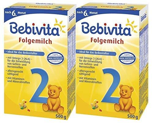 Bebivita 3 Folgemilch - ab dem 6. Monat, 2er Pack (2 x 500g)