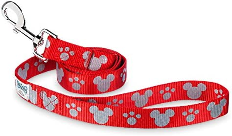 Disney Parks Tails Mickey Mouse Reflective Dog Lead Red Medium Large product image