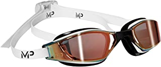 Michael Phelps Xceed Titanium Mirror Swimming Goggles - White/Black - Titanium Gold Mirror