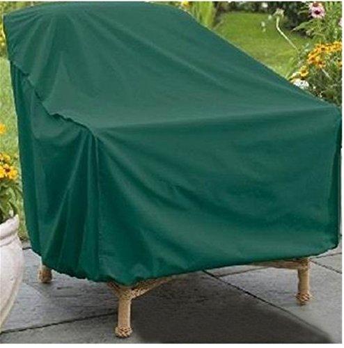 Yeah67886 Peva étanche extérieur Chaise de Table de Jardin Petite Housse pour Salon Vert (134 x 70 x 99 cm)