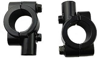 Garneck 2 peças de braçadeira de montagem do espelho retrovisor de 10 mm para guidão retrovisor de 10 mm, suporte de lente...