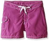 Kanu Surf Girls' Big UPF 50+ Quick Dry Beach Coverup Boardshort, Sassy Purple Solid, Small (7)