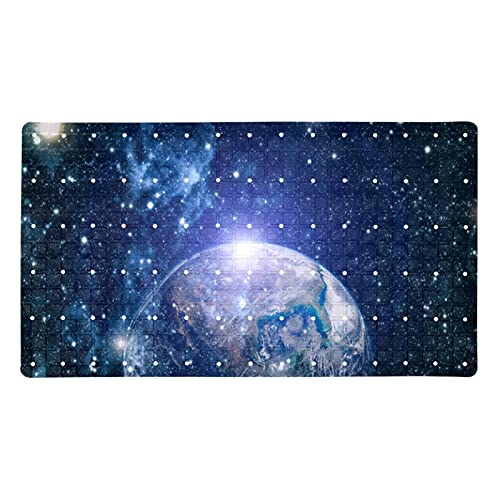 Non Slip Bath Mats for Tub with Suction Cups and Drain Holes,Machine Washable,Bathroom Mats,,Earth