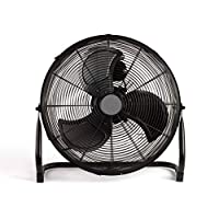 Brasseur d'air Diam 45 cm Pour ventiler de grands espaces 3 vitesses, inclinaison verticale jusqu'à 70° Grille de protection