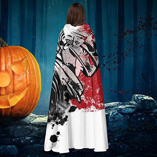 NULLYTG Berserk Red Sun Guts Unisex Navidad Halloween Bruja Caballo con capucha Vampiros Capa Cosplay Disfraz