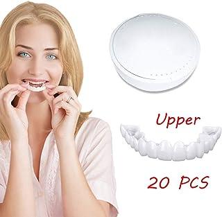 20ピースコンフォートベニア柔軟な歯科義歯トップ美容義歯上列歯ホワイトニングブレース悪い歯黄色い歯黒い歯材料ツール