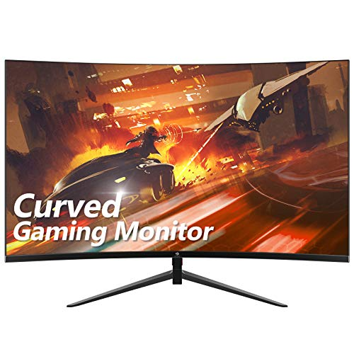Z-Edge UG27 27-inch Curved Gaming Monitor 16:9 1920x1080 165/144Hz 1ms Frameless LED Gaming Monitor, AMD Freesync Premium Display Port HDMI Build-in Speakers