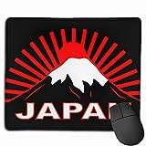 Con La Bandera Tradicional Japonesa Cuadros Japoneses Mouse Pad Custom Non-Slip Polyester Rubber Pad 9.811.8 Inches