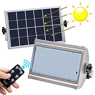 Solar Flood Light Motion Sensor, LED Solar Powered Street Flood Lights Waterproof
