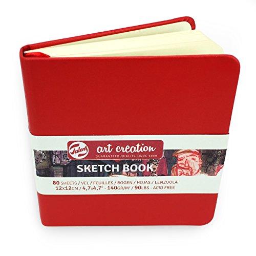 Royal Talens – Art Creation Hardback Sketchbook – 80 Sheets – 140gsm – 12 x 12cm – Red Cover