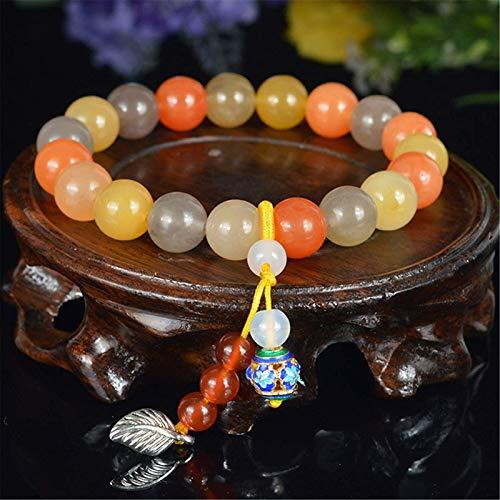 SUCICI Feng Shui Riqueza Pulsera Huang Long Jade Pulsera Natural Imperial Jade Amuleto Pulsera Prosperidad Afortunado encantos atraen Buena Suerte Dinero Regalo para Mujeres/Hombres