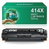 GREENSKY Compatible Toner Cartridge Replacement for HP 414X W2020X 414A W2020A for HP Color Laserjet Pro MFP M479fdw M454dw M454dn M479fdn M479dw M479 M454 Printer Ink Toner (1 Black, NO CHIP)