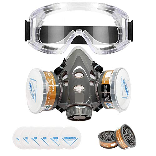 Reusable Respirator, Applied to Cleaning, Grinding, Painting, Sawing, Welding, Industrial Maintenance(Medium)