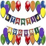 Decorazioni Compleanno Feste Scritta Tanti Auguri Festoni Compleanno Addobbi Happy Birthday Cartoncini Colorati Palloncini Party Kit Festone Striscione Compleanni Bambini Bambina Bambino Adulti