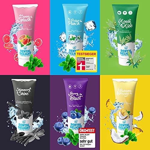 DENTAL DELIGHT 6er Mix-Paket | 6x Nachhaltige & Vegane Zahnpasta mit Geschmack, ohne Mikroplastik