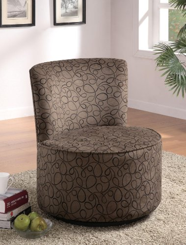 Buy Coaster 902003 Round Swivel Accent Chair For Sale