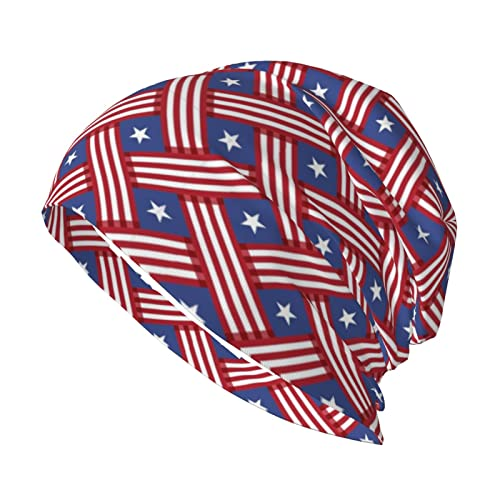 Hat for Women Men,USA Flag Stripes Colorful Cool Halloween Fall Cap Hats Hooded Cap Thin Section Multifunctional Lightweight Beanies Hats for Men Women Running Cap Black