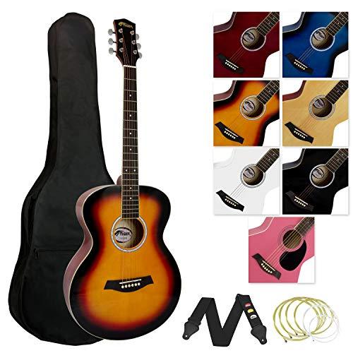 Tiger Full Size Acoustic Guitar for Beginners - Sunburst