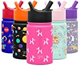 Simple Modern 10oz Summit Kids Water Bottle Thermos with Straw Lid - Dishwasher Safe Vacuum Insulated Double Wall Tumbler Travel Cup 18/8 Stainless Steel -Bubble Dogs
