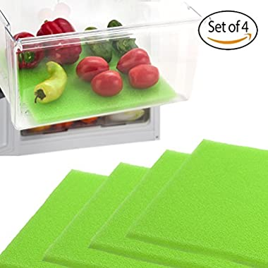 Dualplex Fruit and Veggie Life Extender Liner for Refrigerator Drawers, Extends the Life of your Produce and Prevents Spoilage, 12  L x 15  H, Pack of 4