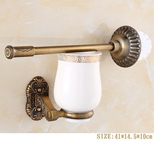 Brosse de toilette en acier inoxydable rétro couleur cuivre Rollsnownow