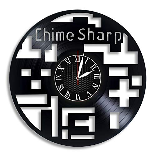Chime Sharp Video Game Vinyl Record Wall Clock, Chime Sharp Best Home Decor Ideas