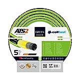 Cellfast Gartenschlauch Green ATS2 series 5-lagigerWasserschlauch aus hochwertigem Doppelgeflecht mit Kreuz- und Trikotgewebe ATS2™ druck- und UV-beständig, 30 bar Berstdruck, 25m, 5/8 zoll, 15-110