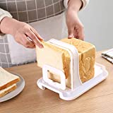 m·kvfa Portable Removable Bread Bagel Slicers, Loaf Bread Sandwich Skiving Machine Cutter Perfect Bagel Cutter with Crumb Catcher Tray for Every Toaster