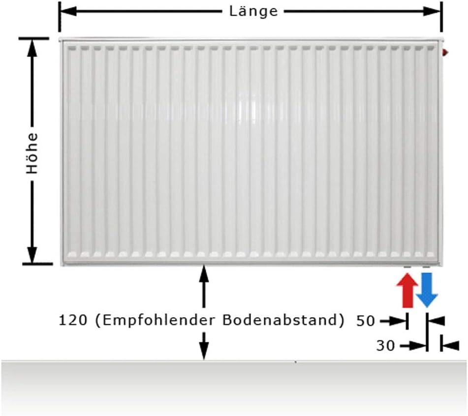 C-profiliert Typ 22 Flachheizk/örper Buderus Logatrend BL: 800 600 BH x vers. mit Wandbefestigungsset FMS